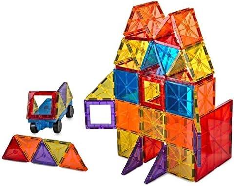 Free Bin Mag-Genius Magna Award Winning Building Magnet Tiles Set 108//pc