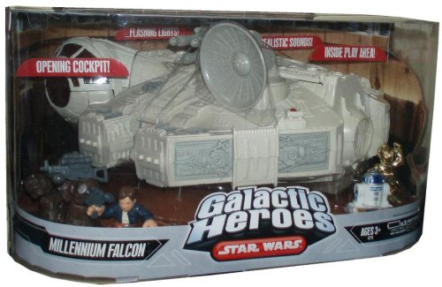 Star Wars Galactic Heroes - Millennium Falcon with 3 Mini Figure (Galactic Heroes Ships)
