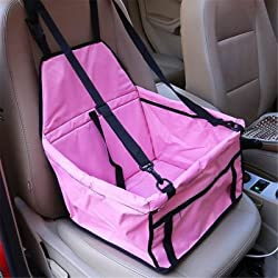 Pet Dog Cat Car Seat Bag Carriers Small Animal Mat Blanket Safety Belt Cover Mat Protector Pink