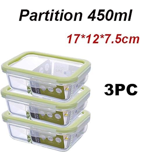 AQGY Caja de Almuerzo Caja de bento de Vidrio Microondas ...