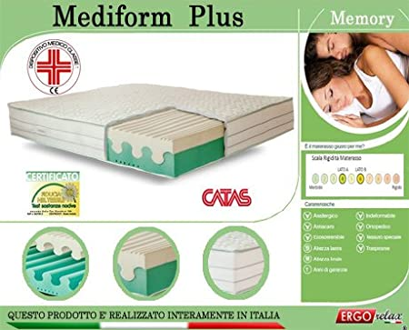 Ergorelax Colchón Memory Mod. mediform Plus Presidio médico Altura Cm. 22: Amazon.es: Hogar