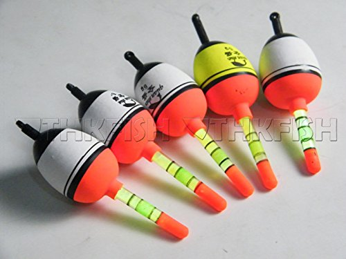 5 Piece 15g EVA Floats +10pcs Glow Stick Fishing Floats Luminous Lighting EVA Foam Floats