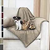 Cheap Premium Sherpa Dog Blanket | Pet Throw Blanket for Puppy, Small Dog, Medium Dog or Cat Kitten | Reversible, Soft, Lightweight Microfiber Throw – 30 x 40 Inches (Taupe Taupe)