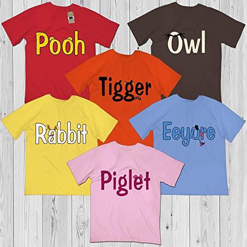 Piglet-Pooh-Eeyore-Rabbit-Tigger-Owl Halloween Costume Matching Winnie Bear Friends