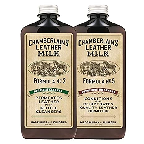 Leather Milk Leather Furniture Cleaner & Conditioner Kit (2 Bottle  Furniture Care Set) - Straight Cleaner No. 2 + Furniture Treatment No. 5 -  All ...