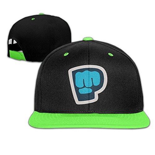 Youtube Pewdiepie Brofist Symbol Adjustable Childrens KellyGreen Baseball Caps Hip Hop Hats