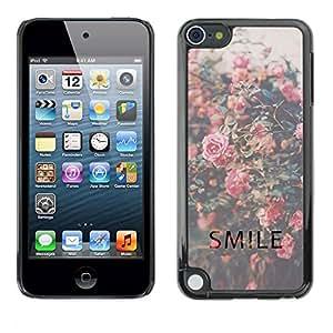 TopCaseStore / la caja del caucho duro de la cubierta de protección de la piel - Vignette Roses - Apple iPod Touch 5