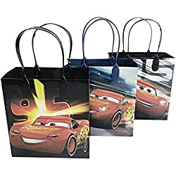 Disney Car Mcqueen Lightning 12 Premium Quality Party Favor Reusable Goodie Small Gift Bags 6""