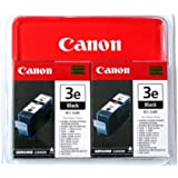 Canon BCI-3eBK, 2-Pack–Ink cartridge for printers (2-Pack, Black, i550, i850, MultiPass MP700/C755, PIXMA IP3000/4000/5000, S400/500/600/750, Inkjet, 10–70%, 10–35°C, 15–35°C)