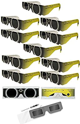 Eclipser Solar Viewing Glasses with Double Alumunized Solar Skreen 2012 Pack of 10