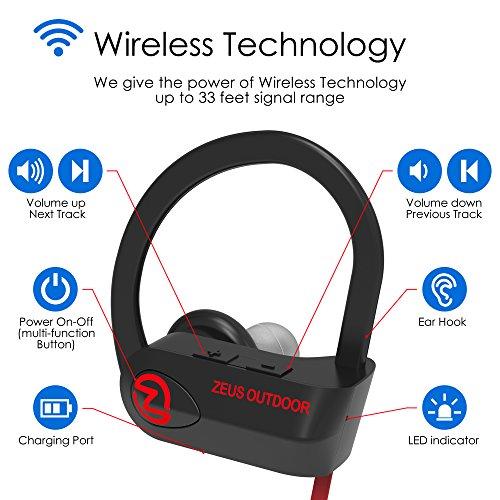 Bluetooth Headphones Wireless - Mens Womens Running Headphones - Best Sports Wireless Earbuds Earphones - IPx7 Wireless In-ear Headphones - Sport Bluetooth Headphones for Women Men (up to 10 Hours) - Image 2