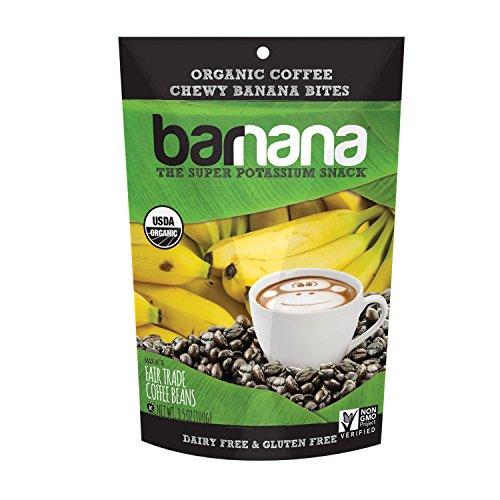 Barnana Organic Chewy Banana Bites - Coffee - 3.5 Ounce - Delicious Barnana Potassium Rich Banana Snacks - Lunch Dinner Sports Hiking Natural Snack - Whole 30, Paleo, Vegan