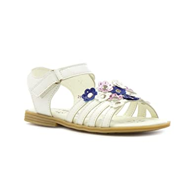 446eebfcd01a Walkright Girls White Flower Easy Fasten Sandal  Amazon.co.uk  Shoes ...