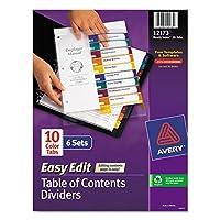 Índice de Avery Ready Editar tabla de contenidos Divisores (AVE12173)