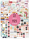 Gorgeous Monthly Planner Stickers - 1125 Stunning Design Accessories Enhance and Simplify Your Planner, Journal and Calendar