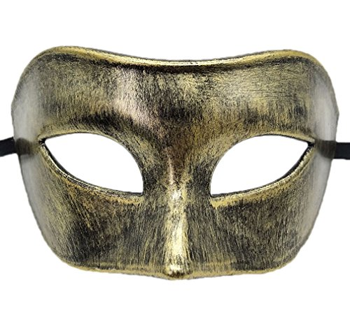 Coolwife Mens Masquerade Mask Greek Roman Party Mask
