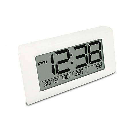 Reloj Despertador Sueños Pesados Dormitorio Relojes Retroiluminación eléctrica Pantalla Digital Reposo Temperatura Fecha Noche