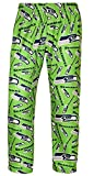 NFL Mens Repeat Print Logo Polyester Comfy Pants (Seattle Seahawks, Large)