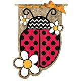 Cheap Gifted Living Lady Bug Vertical Flag