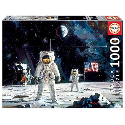 First Men On The Moon 1000 Piece Puzzle: Toys & Games