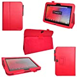 i-design Google Nexus 10 Premium PU Leather Case with Flip Stand Support, Stylus holder and Wake/Sleep Function (Google Nexus 10, Red)