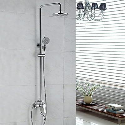 LightInTheBox® Chrome Finish Single Handle Shower Faucet Contemporary Rain Shower / Handshower Included Brass Chrome