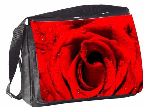 Klebespatz / Motiv Schultertasche Mailand rote Rose