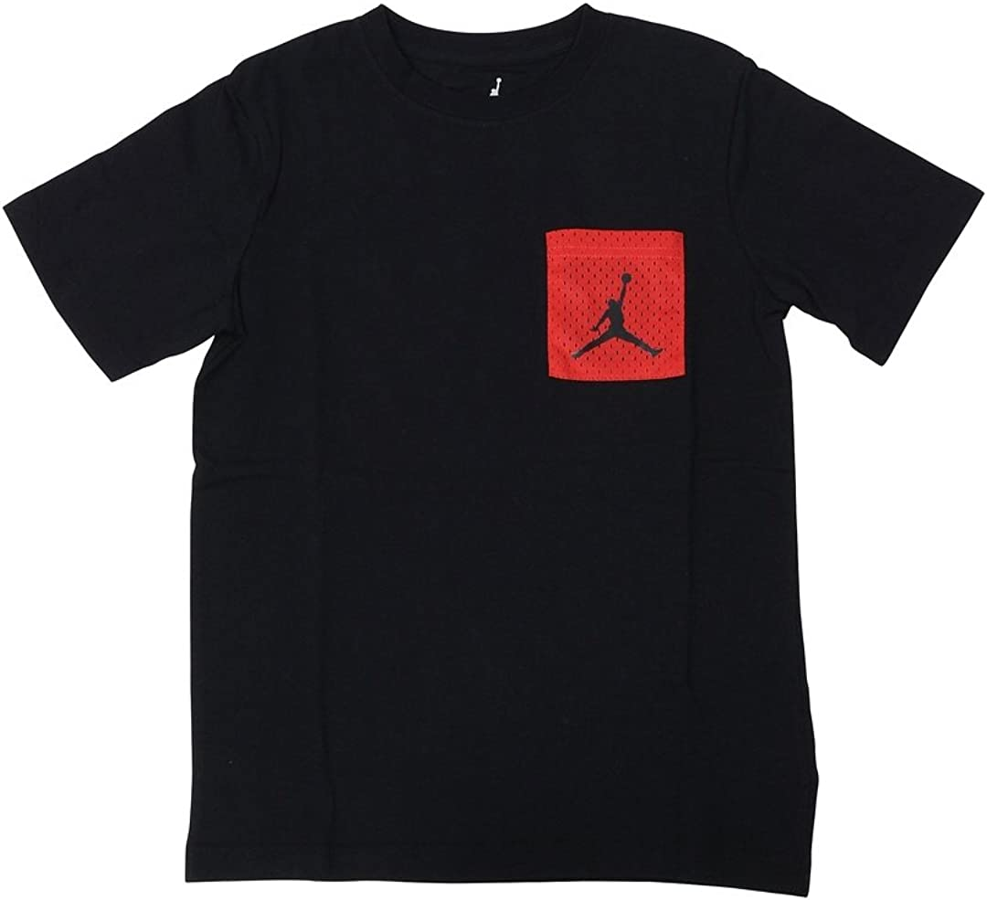 Black Jordan Nike Boys Mesh Red Pocket T-Shirt X-Large