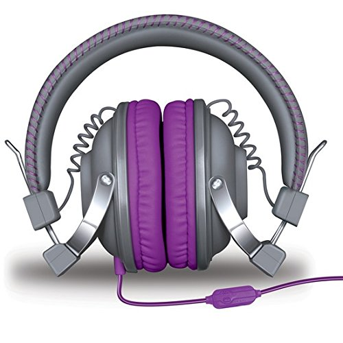 iSound HM-260 Dynamic Stereo Headphones with in-line Mic and Volume controls (purple)