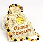 #5: Baltic Amber Teething Necklace For Babies (Oval Multicolor) | Drooling, Pain Reduce & Anti Flammatory | Lab Tested & Certified by Amber Certificate Inst. | Natural & Handmade Amber Beads Jewelry