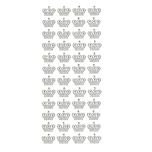 Homeford Royal Crown Rhinestone Stickers, 3/4-Inch, 48-Count - Crown Rhinestones