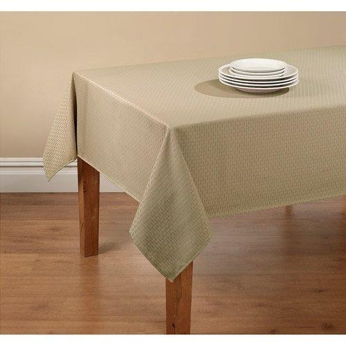 Vinyl Flannel Backed Indoor Outdoor Tablecloth - Brownstone