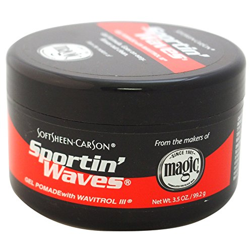 (SoftSheen-Carson Sportin' Waves Gel Pomade with Wavitrol III, 3.5 oz )