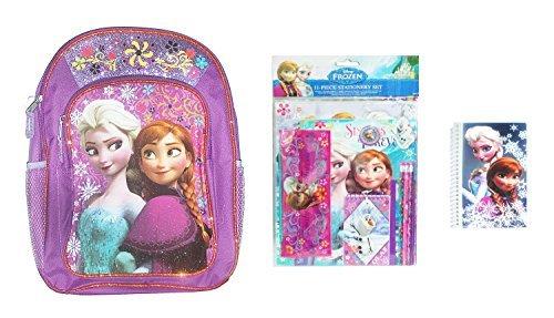 Disney Frozen Back to School Set - Includes Backpack, 11pc Stationery Set, & Bonus Mini - Mini Frozen Notebooks