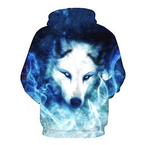 Avec shirt Pochette Imprimé Style Capuche Top Blouse À Loup Sweat Acvip Unisexe 17 Veste avwgX