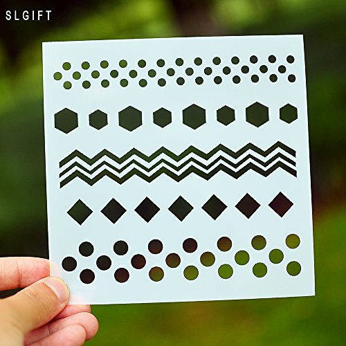 DIY Painting Stencil for Scrapbooking Cardmaking Cake,Brick (Polka dot) by SLGIFT (Image #2)