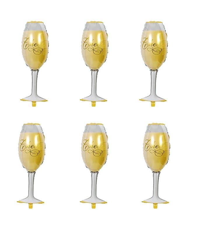 6 globos grandes de aluminio para copa de champán, para ...