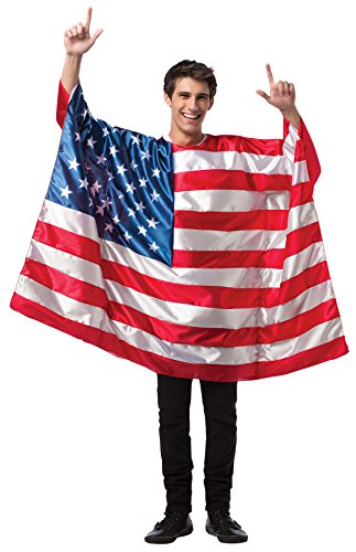 UHC USA Flag Outfit 4th July Independence Patriotic Outfit Holiday Costume, OS (48-52)