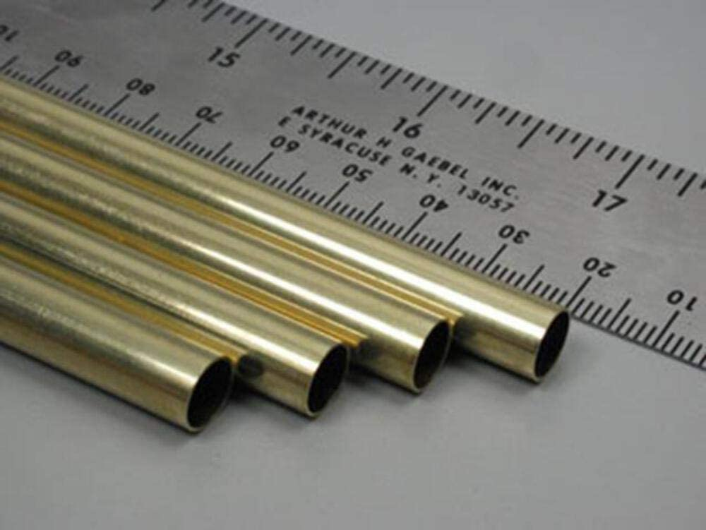 pack of 4 K/&S Metal Round Tube 5//16 D X 36 L Brass