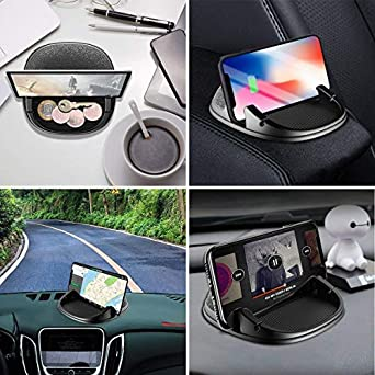 3.5-7 Inch Cell Phone or GPS Devices Car Mount Holder Freal Smartphone Stand Holder Non-Slip Silicone Pad Dash Mat,Dashboard GPS Cradles Bracket for iPhone 5//6//7//8 Plus,Samsung,Google Nexus Black