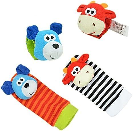 Doitsa 1 Paar Baby Socken niedlich Styling Tier Rassel Baby Socken Pl/üsch Socken 0-12 Monate f/ür Kinder Baby bestes Geschenk 15cm*6.5cm