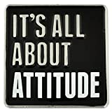 PinMart's It's All About Attitude Customer Service Motivation Enamel Lapel Pin