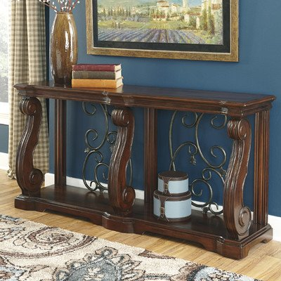 Astoria Grand Classic-Modern Curvaceous Console Table by Astoria