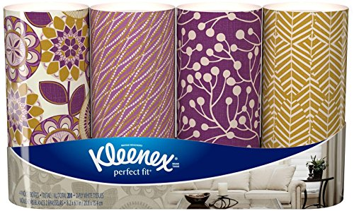 Kleenex Perfect Fit, 50 Count, (4 pack) -  Packaging May Vary(Assorted color and style boxes) (Kleenex Tissues)