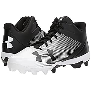 Under Armour Men's Leadoff Mid RM, Black (001)/White, 12.5