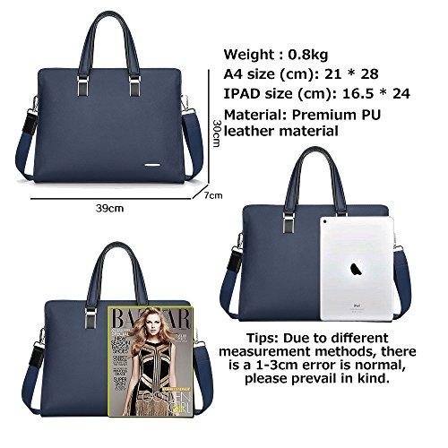 Business 2018 Pu Shoulder Bag Leather Men's Blue Commuter Waterproof 3099 Tote Jn Lightweight s Diagonal Popular TwqfpAz4