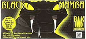 Black Mamba - Pack de 100 guantes de nitrilo (tamaño XL), color negro