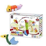 LiKee Magnetic Building Fun Blocks Toddler Toy, Preschool, Pre-Kindergarten Big Building Fun Block Toys For Toddlers Kids