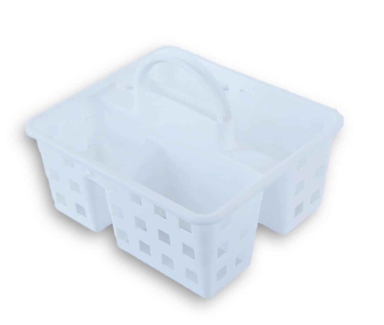 Amazon.com: Small Utility Shower Caddy Tote - White: Home & Kitchen