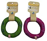 One Pet Planet 86174 Wool Ring (6 Pack), Green/Magneta, 5''